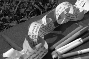Healing the hurt: Students express grief over tragedies