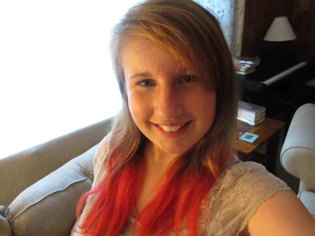 Freshman Laura Hudgins had her hair dyed professionally rather than use Kool-Aid.