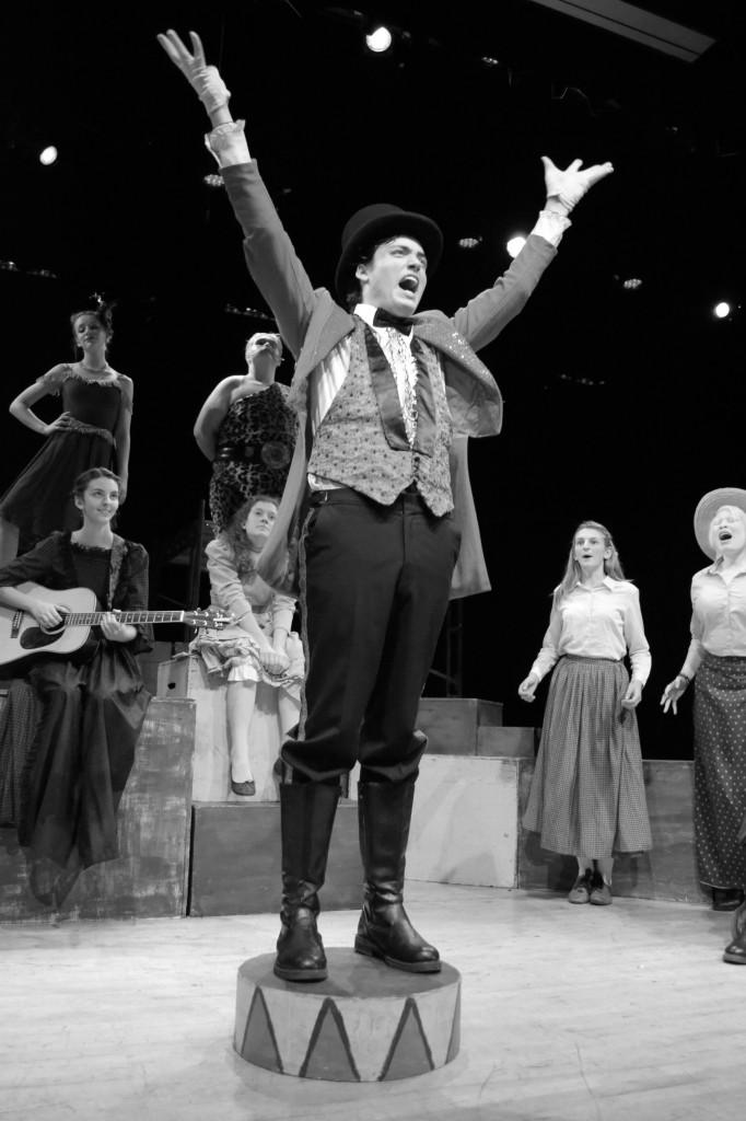 Junior Isaac Smith command the attention of the other characters as the Ringmaster in