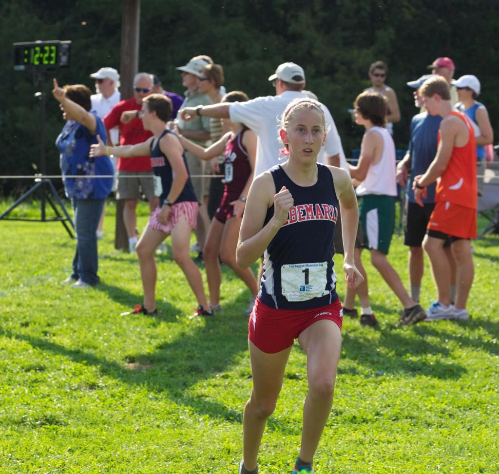 Senior Ciera Ulan runs the Ragged Mountain Cup on Aug. 28, in which she placed 6th out of the 88 runners.