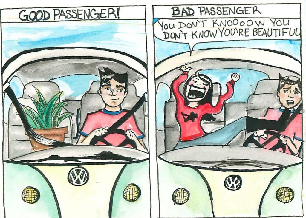 Elena Gavrilovic depicts a good passenger versus a bad one.