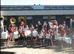 Brass Choir and Drumline Perform