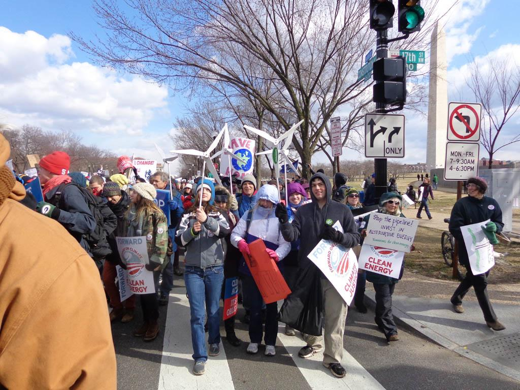 30 AHS students spent  Sunday, Feb. 17 in DC participating in the largest Climate rally in US history.