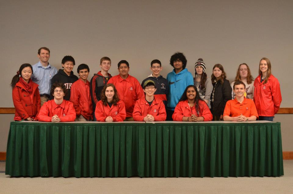 The Academic Team poses after taking fifth place at the State meet on Feb. 23.