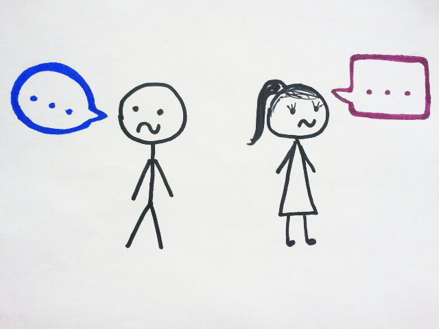 The image above depicts a simplified example of uncomfortable social interaction between opposite sexes.