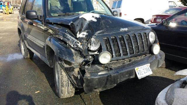 Junior Emily Kostanecki damaged her Jeep Liberty following an accident in which she swerved on an icy road, lost control and hit a tree.