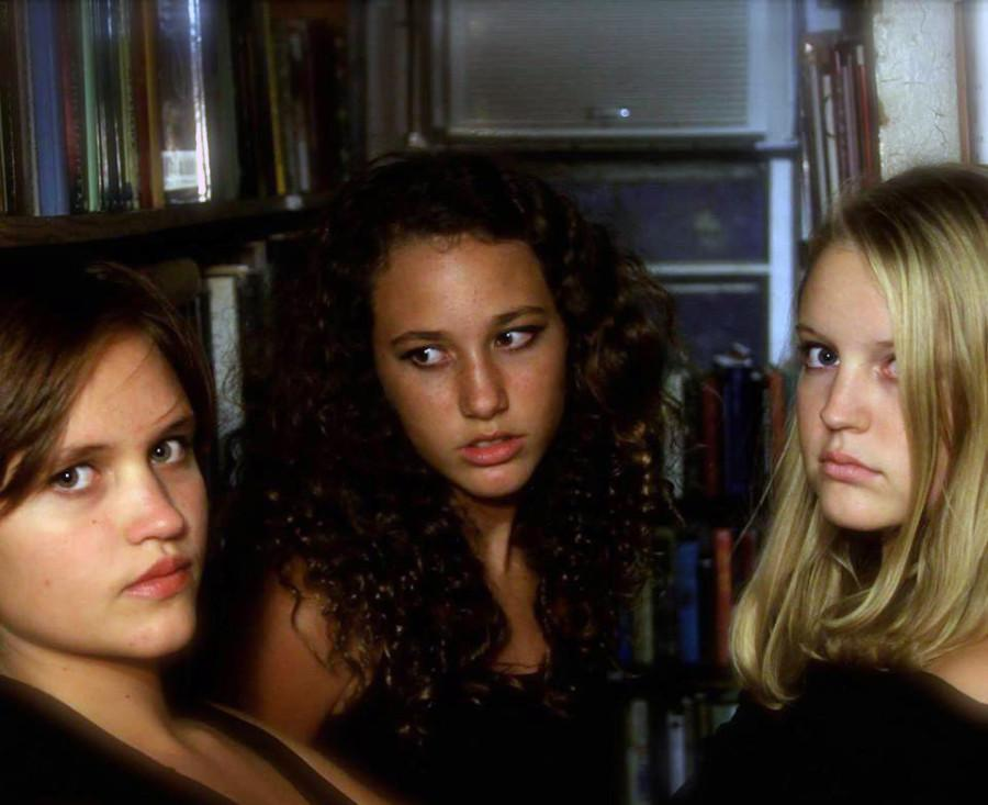 (Left to Right) Tess Przyuski,  Kayla Gavin, and emma Umberger pose in their cover photo of  The Strangest Angels