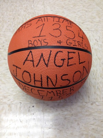 Angel Johnson was the last to break the Albemarle basketball career record with 1354 points. Senior point guard KK Barbour is set to break this record in tonight's game against Orange.