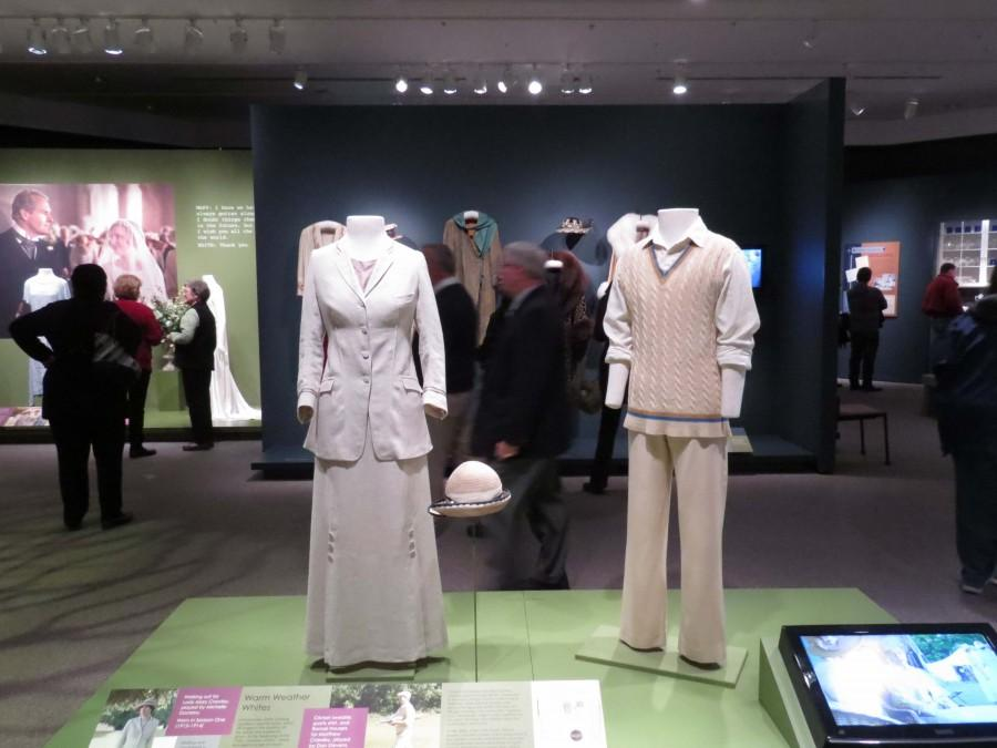 Costumes from Downton Abbey showcased at Winterthur Museum.