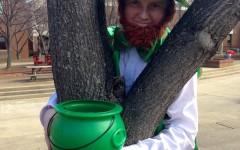 Junior online editor Alex Leslie lets his inner leprechaun show to celebrate St. Patrick's Day.