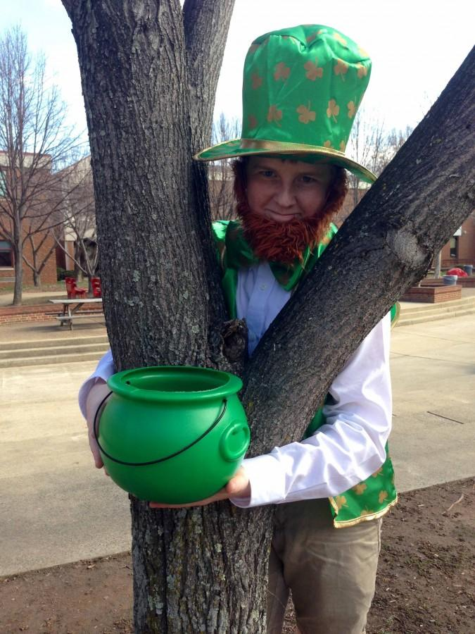 Junior online editor Alex Leslie lets his inner leprechaun show to celebrate St. Patrick's Day.
