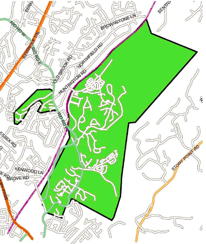 Areas of East Rio Road and Dunlora affected in both redistricting plans.