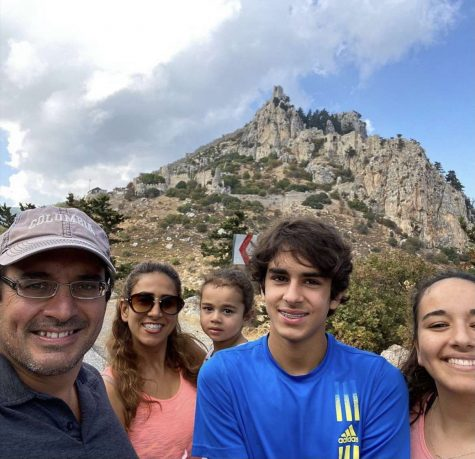 Veysel family on a hike through the St. Hilarion Castle.