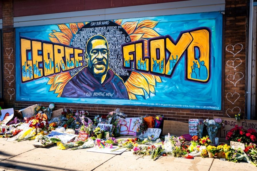 Graffiti mural honoring George Floyd