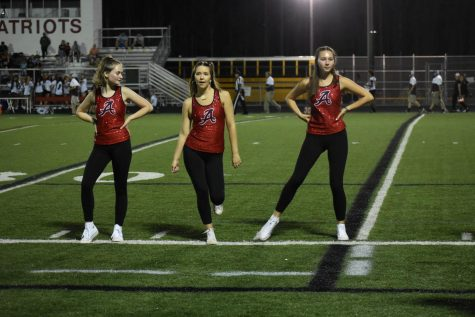 The 2019-2020 dance team performs at a football game. This year, they will perform during halftime at every home varsity basketball game.
